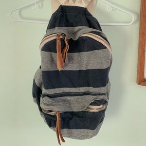 John Galt striped mini backpack